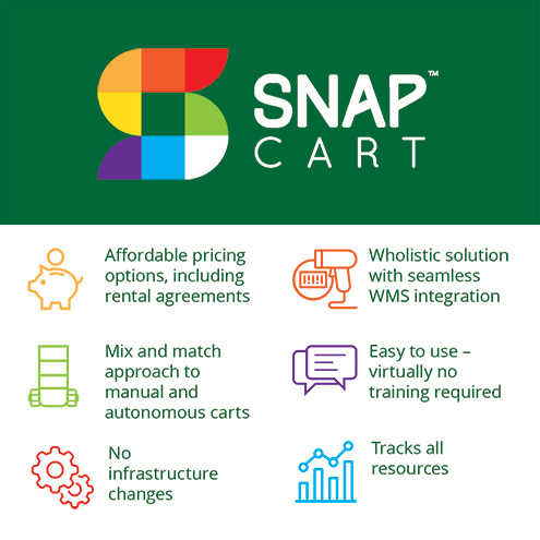 SnapFulfil announces autonomous fulfillment cart, SnapCart